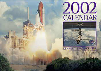calendars of years past 2002 space calendar