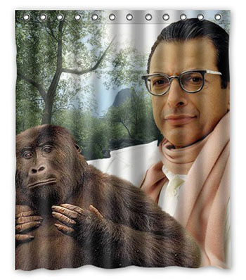 jeff-goldblum-gorilla-shower-curtain