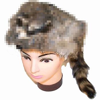 raccoon-head-hat