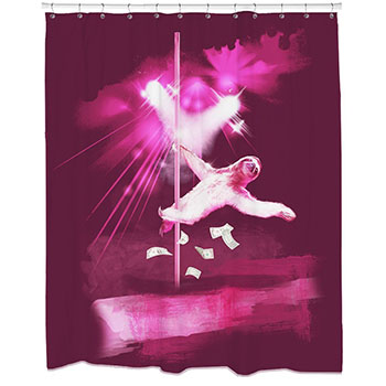 http://theworstthingsforsale.com/wp-content/uploads/2016/11/stripper-sloth-shower-curtain.jpg