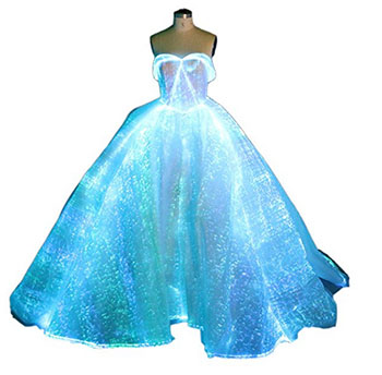 the glowing fiber optic wedding dress the worst things for sale